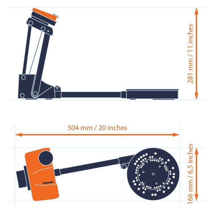 Size SOL 3D scanner Scan Dimension